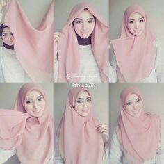 How to wear hijab pashmina Ideas for 2019 Tutorial Hijab Segi 4, Square Hijab Tutorial, Simple Hijab Tutorial, Hijab Style Tutorial, Scarf Tutorial, Stylish Hijab, Hijab Chic, Cara Hijab, Hijab Mode Inspiration
