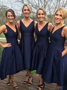 2017 bridesmaid dresses,navy blue bridesmaid dresses,wedding party dresses,high low bridesmaid dresses @simpledress2480