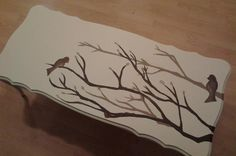 Dovetail Creative Furnishings's discussion on Hometalk. Shabby Chic Coffee Table - Used homemade chalk paint for this project, and then got creative with freehand art work!