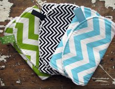 Chevron Baby Burp Cloths  Set of 3  Gender by theposhpeaboutique, $25.50