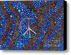 Peace Sign Stretched Canvas Print / Canvas Art By Janice Dunbar