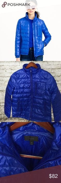"""J. Crew Lightweight Puffer Jacket Size Small J. Crew Lightweight Puffer Jacket. Never worn. Body length: 25"""". Sleeve length: 31 3/4"""". Hits at hip. Boxy fit. Body length: 25"""". Sleeve length: 31 3/4"""". Hits at hip.  This puffer is lighter weight that makes it ideal for layering or for wearing solo on days when the weather hasn't really made up its mind. Bonus: A shorter length means it balances the longer silhouettes we're loving this season (oh hello, below-the-knee skirts).  Nylon. Standing…"""