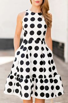 Polka Dot Flounce Dress By Lonestar Southern