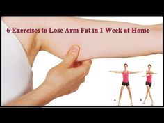 "6 Exercises to Lose Arm Fat in 1 Week at Home ""How to Lose Arm Fat with Home Exercises"" These are exercises which help to get rid of and burn arm and underarm fat and flabby arms). Reduce Arm Fat, Burn Arm Fat, Lose Thigh Fat Fast, Lose Body Fat, How To Lose Weight Fast, Losing Weight, 5 Min Arm Workout, Good Arm Workouts, Easy Workouts"