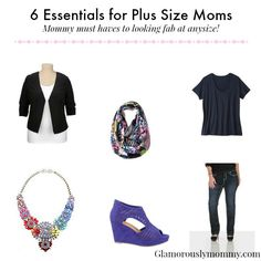 Tired of looking drab? I'm going to show you how to look FAB with 6 Wardrobe Essentials for Plus Size Moms!