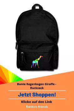 Kaufe dir jetzt diesen Rucksack, damit du immer alle wichtigen Sachen auf Reisen dabei haben kannst. Lass dir diese und weitere Tier-Zeichnungen auf deine Accessoires drucken. Lasse dich inspirieren   Schau jetzt in unserem Shop vorbei! Klicke jetzt auf den Link! #Rucksack #Accessoires #Stile #Spreadshirt #Giraffe #Rainbowanimals #Mode #Modeinspiration #Inspiration #Accessoireidee