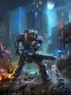 Halo Reach Art by Yuanke Zhou on Artstation Halo Game, Halo 5, Halo Reach, Video Game Art, Video Games, Gundam, Halo Armor, Halo Spartan, Halo Collection