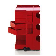 Mobile contenitore Boby A 73 cm - 5 cassetti Rosso design Joe Colombo for B-LINE Line Design, All Design, Chariot A Roulette, Pop Art, Joe Colombo, Moma Collection, B Line, Archi Design, Modular Furniture