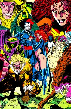X-Men Villians by Jim Lee and Scott Williams