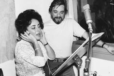 ET in the studio with Stephen Sondheim recording for A Little Night Music (1977)