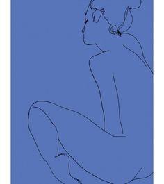 Madelaine, sitting - Ed Hodgkinson at Zero 10 Gallery