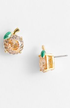 Juicy+Couture+'Ocean+Couture'+Peach+Stud+Earrings+available+at+#Nordstrom