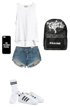 """To sexy for you"" by emmalish ❤ liked on Polyvore featuring rag & bone, adidas, Pieces and Casetify"
