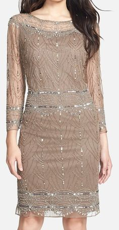 love this beaded mesh cocktail dress http://rstyle.me/n/tjbssbh9c7