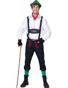 Verkleidung Bayer in Schwarz und Bordeaux für Männer: Diese Verkleidung als Bayer ist für Männer und besteht aus einer Dreiviertelhose mit Trägern (alles andere ist nicht im Angebot inbegriffen).Die Hose reicht bis kurz unter das Knie und ist aus...