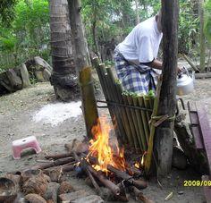 Masak Lemang di Kampung, Tapanuli Selatan