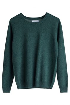 Juni emerald green knit sweater, from Weekday.