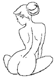 Nude Drawing  a Counted Cross Stitch Pattern by WooHooCrossStitch, $9.00