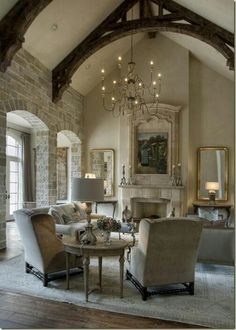 Love the muted pallet against dark arches!