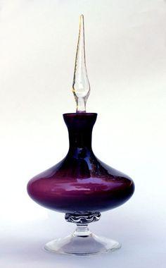 Vintage Amethyst Glass Perfume Bottle