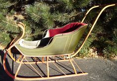 Antique Victorian Child's Push Sleigh Sled by CindyRayDesigns on Etsy for $1,000.00