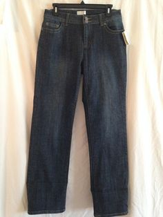 CHRISTOPHER & BANKS STRAIGHT LEG COMFORT STRETCH  JEANS SIZE 6 NWT #CHRISTOPHERBANKS #CapriCropped