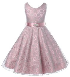 Shop a great selection of Full Lace V-Neck Dress Satin Sash Rhinestone Brooch Flower Girl Dress. Find new offer and Similar products for Full Lace V-Neck Dress Satin Sash Rhinestone Brooch Flower Girl Dress. Girls Lace Dress, White Flower Girl Dresses, Wedding Flower Girl Dresses, Lace Flower Girls, White Wedding Dresses, Lovely Dresses, Girls Dresses, Bridesmaid Dresses, Party Dresses