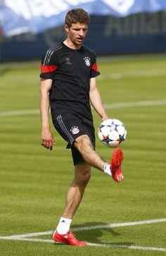 Muller at training