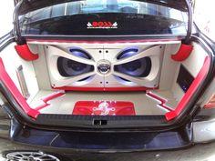 Subwoofer Box Design, Speaker Box Design, Car Audio Shops, Car Audio Installation, Custom Consoles, Custom Car Interior, Car Audio Systems, Car Sounds, Diy Car