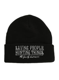 Supernatural Family Business Knit Beanie   Hot Topic   Supernatural
