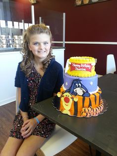Jasmine's Winnie the Pooh Cake.....with Icing Smiles Foundation. Great young lady!