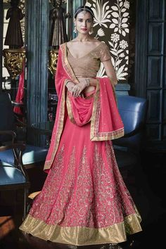 Nakkashi Georgette Party Wear Lehenga Choli in Pink Colour – ADDSHOP.NET