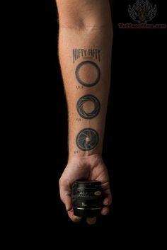 Camera Shutters Tattoo