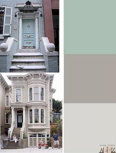 House exterior color palette.