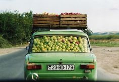 Apple Car!  How many apples do you think are in that car?