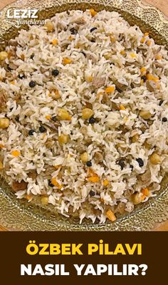 How to Make Uzbek Pilaf (Original Recipe) - # (Original .- How to Make Uzbek Pilaf (Original Recipe) – # (Original # How # Uzbek # Pilaf # How to Make - Joy Of Cooking, Cooking With Kids, Quick Recipes, Cooking Recipes, Oven Chicken Recipes, Good Food, Yummy Food, Health Dinner, Turkish Recipes