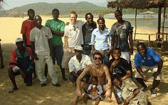 Blogging in the Telegraph from the beach in Sierra Leone