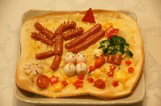 トナカイのピザ