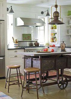 cocina : Una Barra o Isla de Cocina de Diseño Original