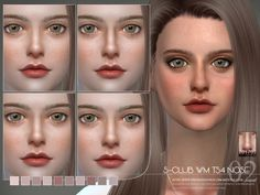 Nose, facedetail, 10 colors, hope you like it, thanks!  Found in TSR Category 'Sims 4 Female Skin Details'