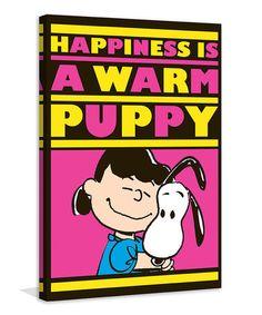 Look at this #zulilyfind! Peanuts 'Warm Puppy' Gallery-Wrapped Canvas #zulilyfinds