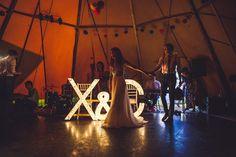 Pompom of Colour – Christine and Xander's Tipi Wedding by Jeff Newsom