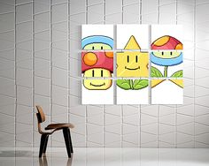 Retro game art specialist James Bit made this set of canvas prints that will be familiar to anyone who's played Super Mario Bros. 3. It's the spade panel m