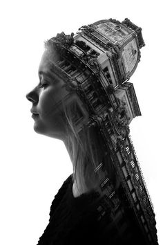 Milan's Architecture and People in Surreal Double Exposures #milan #italy #architecture #italyarchitecture