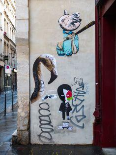 La #streetart di Fred Le Chevalier - 45 rue Quincampoix, #Parigi. www.viviparigi.it