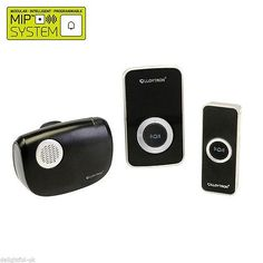 Lloytron B7506BK Melody Plug-in and B/O Wireless Door Chime with MiPs - Black  sc 1 st  Pinterest & Find Byron Db312 Wireless Port u0026 Plugin Door Chime Kit at Homebase ...
