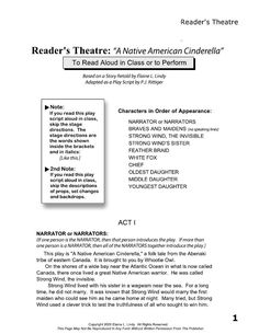 "COMPLETE READER'S THEATRE PLAY SCRIPT: ""THE NATIVE AMERICAN CINDERELLA"""