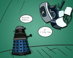 Open Geek House is under construction Portal Memes, Portal 2, New Memes, Funny Memes, Doctor Who, Geek House, Aperture Science, Fandom Crossover, Dalek