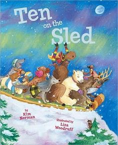 Adorable book! I found google images of each of the animals on the sled, printed them and laminated them. The students placed each animal on a Velcro strip i made with Boardmaker as they fell off the sled. Then we talked about the animals using the words before, after, left, right, and skip. Also perfect for discussing verbs, rhyming and alliteration. Fun book available in iBook!