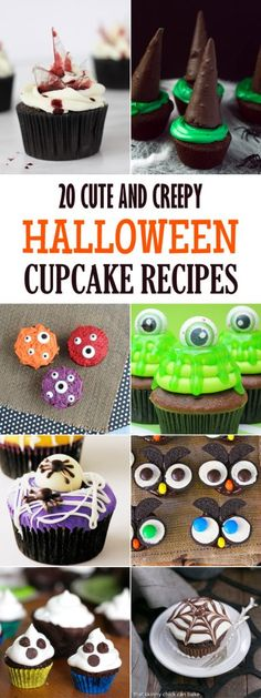 20 Cute and Creepy Halloween Cupcake Recipes